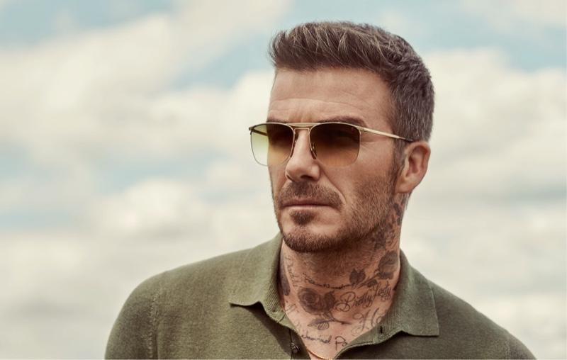 David Beckham rocks sunglasses from DB Eyewear.
