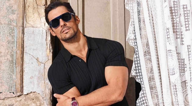 David Gandy stars in Dolce & Gabbana's spring-summer 2020 eyewear campaign.