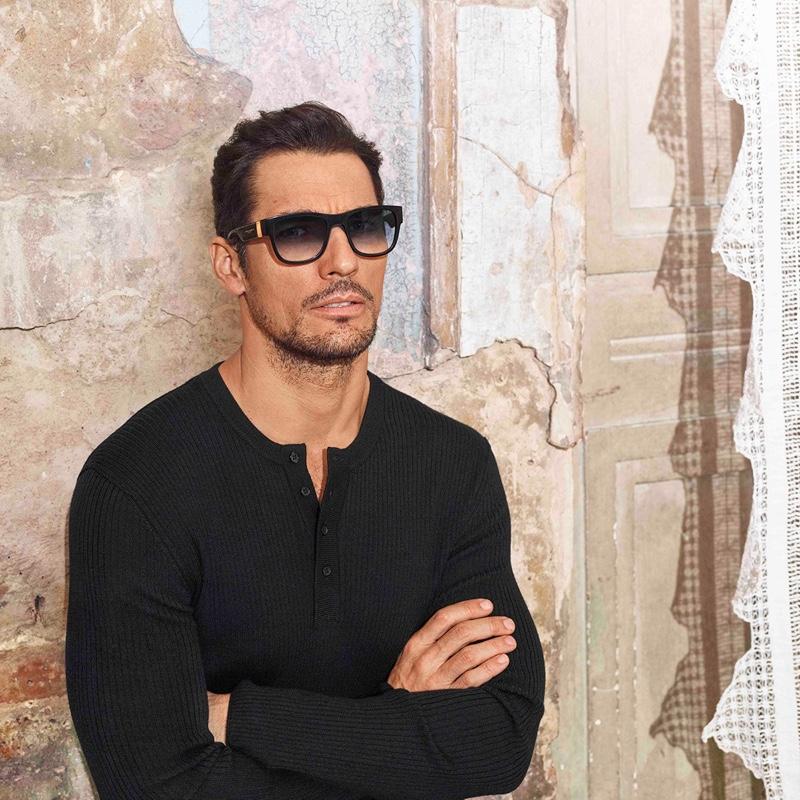 British model David Gandy fronts Dolce & Gabbana's spring-summer 2020 eyewear campaign.