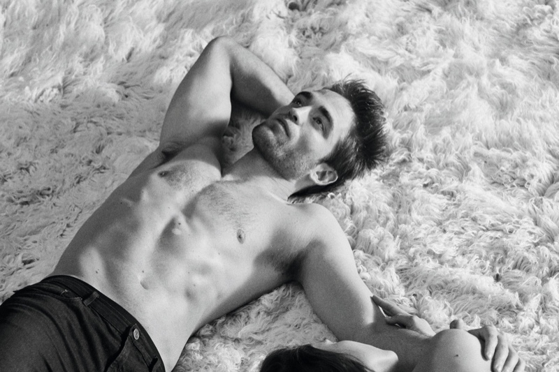 A shirtless Robert Pattinson is the face of Dior Homme.