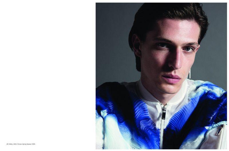 Edoardo Sebastianelli Mesmerizes in Dior Men for Fashion for Men