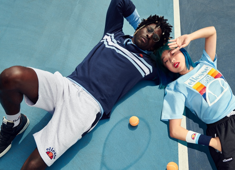 Hitting the tennis court, SAINt JHN and Margaret Zhang star in Ellesse's spring-summer 2020 campaign.