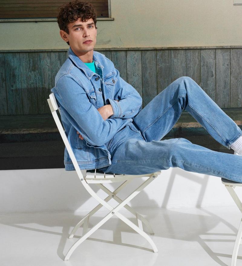 Arthur Gosse doubles down on denim for Esprit's 'I Am Sustainable' campaign.