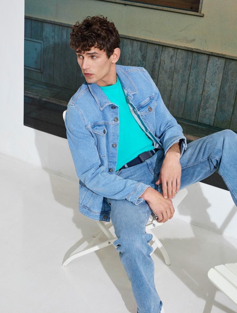 French model Arthur Gosse fronts Esprit's 'I Am Sustainable' campaign.