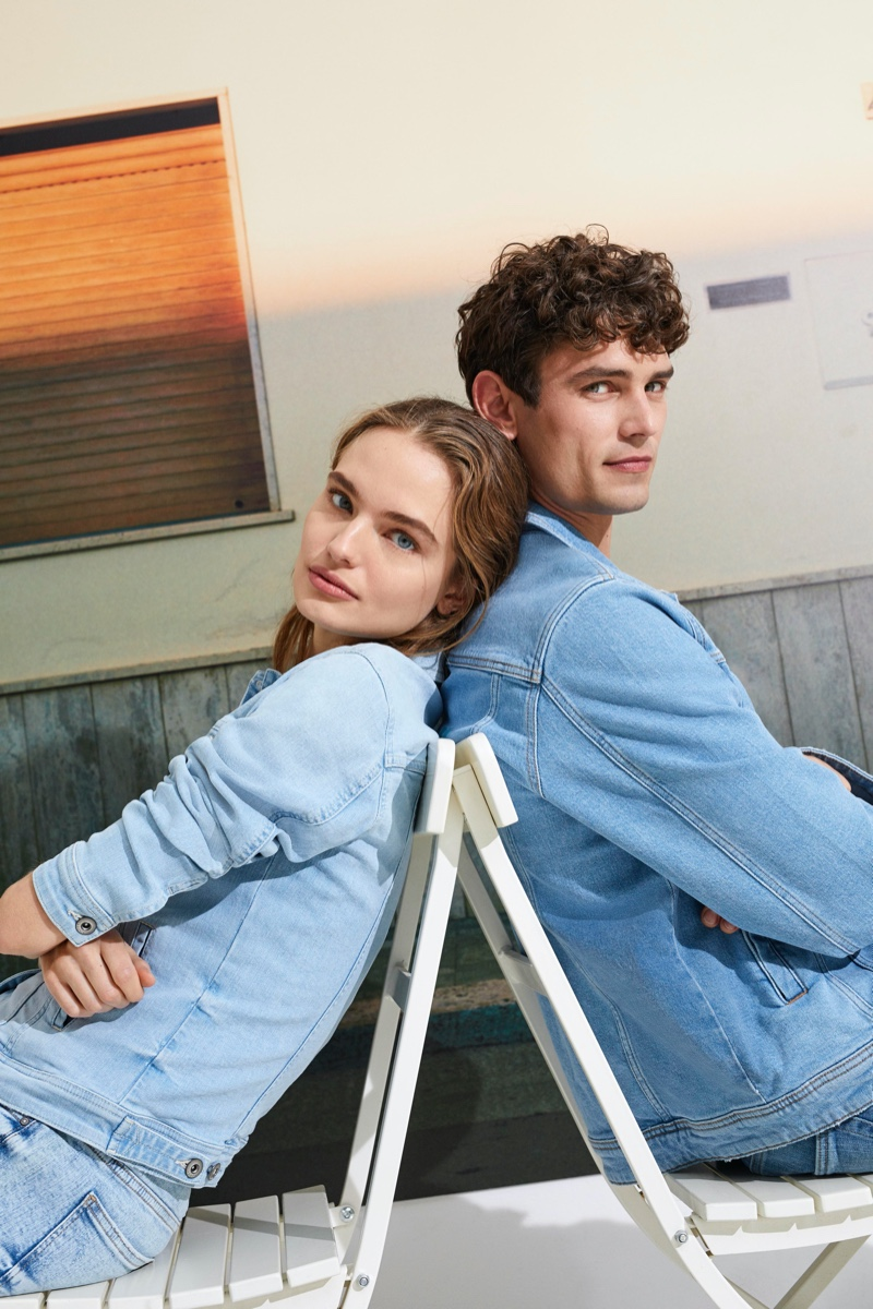 Models Anna Mila Guyenz and Arthur Gosse come together for Esprit's 'I Am Sustainable' campaign.