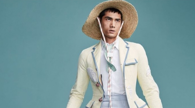 Hao Yun Xiang Models Bold Looks for Vogue Me China