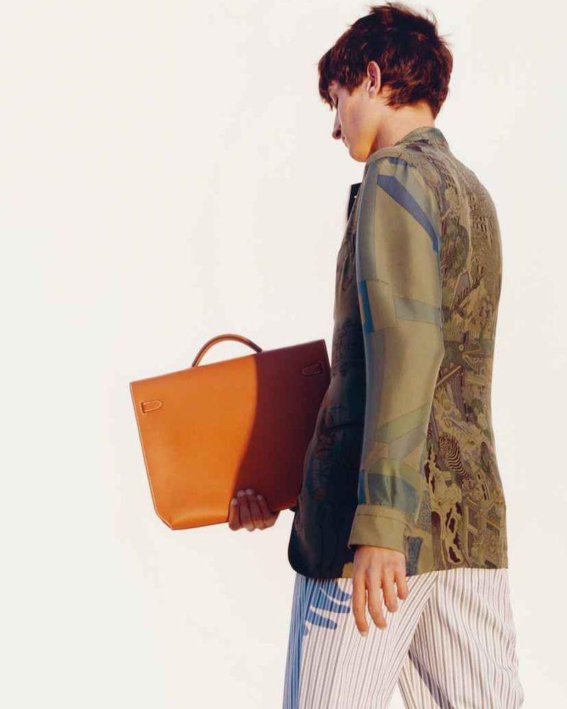 Model Pablo Fernandez stars in Hermès' spring-summer 2020 campaign.