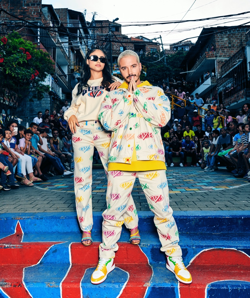 Sara Orrego and J Balvin star in GUESS' spring-summer 2020 campaign.