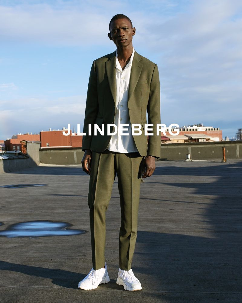 Front and center, Fernando Cabral appears in J.Lindeberg's spring-summer 2020 campaign.