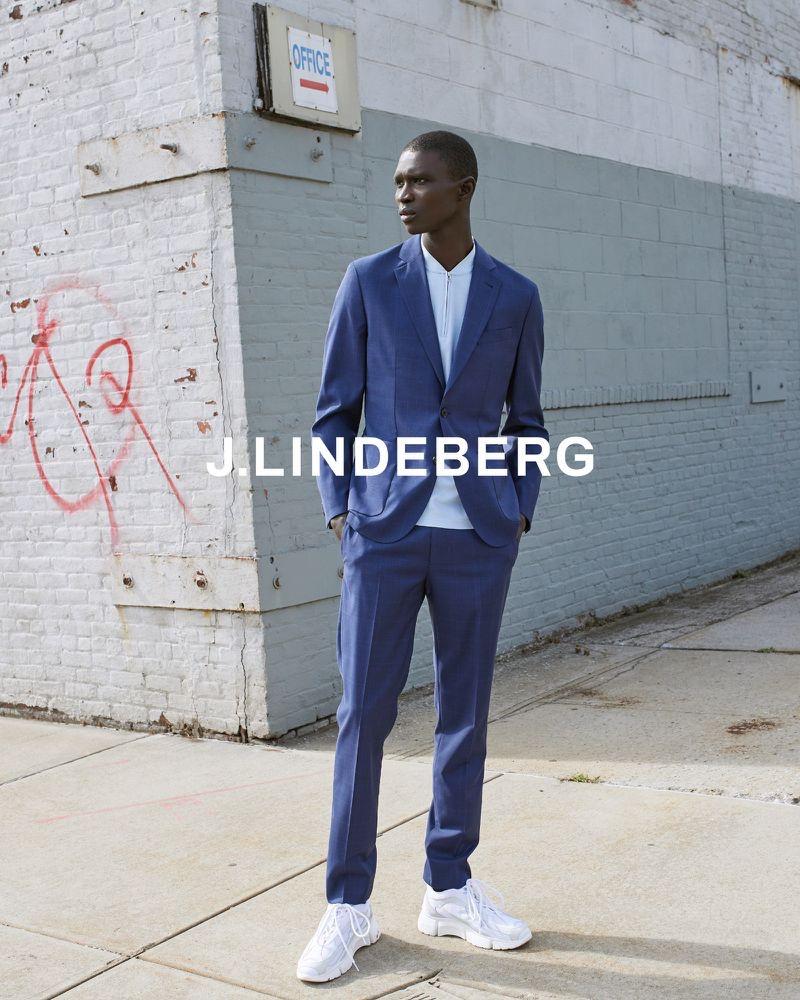 Magnus Magnusson photographs Fernando Cabral for J.Lindeberg's spring-summer 2020 campaign.