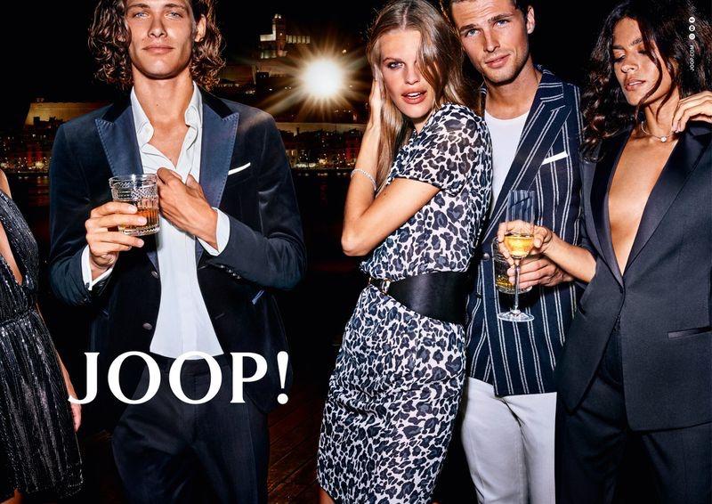 Philippe Vogelenzang photographs Umberto Villahermosa, Kim Riekenberg, Edward Wilding, and Sarah Q. for JOOP!'s spring-summer 2020 campaign.