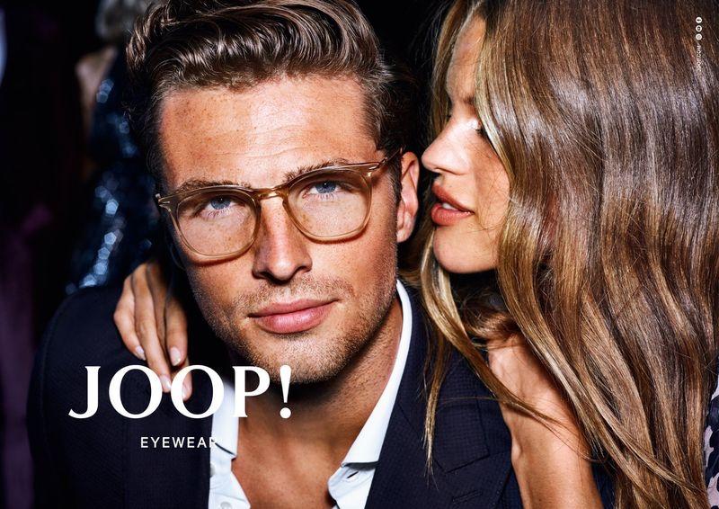Coupling up, Edward Wilding and Kim Riekenberg star in JOOP!'s spring-summer 2020 eyewear campaign.