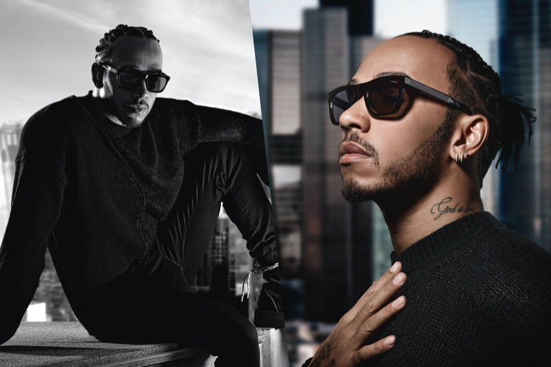 Lewis Hamilton fronts the campaign for his spring-summer 2020 Police eyewear collaboration.