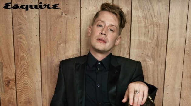 Dressed to impress, Macaulay Culkin sports a Dolce & Gabbana look with Saint Laurent shoes for Esquire.