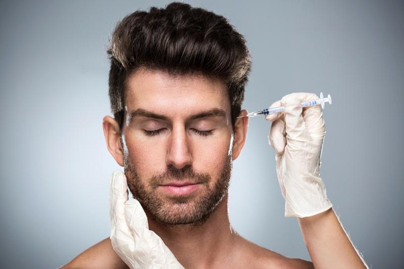 Man Botox Face Beauty