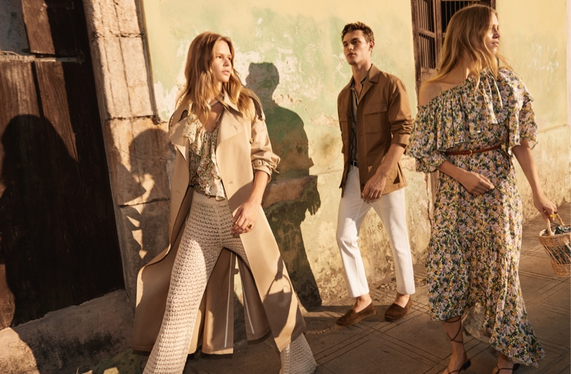 Anna Ewers, Kit Butler, and Rebecca Leigh Longendyke star in Mango's spring-summer 2020 campaign.