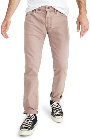 Men's Madewell Everyday Flex Garment Dyed Slim Fit Jeans