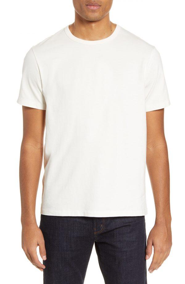 Men's Madewell Garment Dyed Allday Crewneck T-Shirt, Size X-Large - Ivory