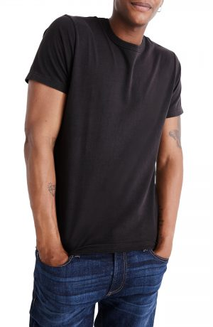 Men's Madewell Garment Dyed Allday Crewneck T-Shirt, Size X-Small - Black