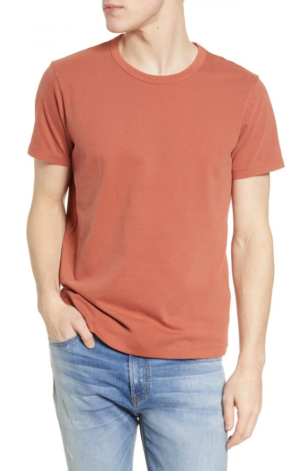 Men's Madewell Garment Dyed Allday Crewneck T-Shirt, Size X-Small - Red