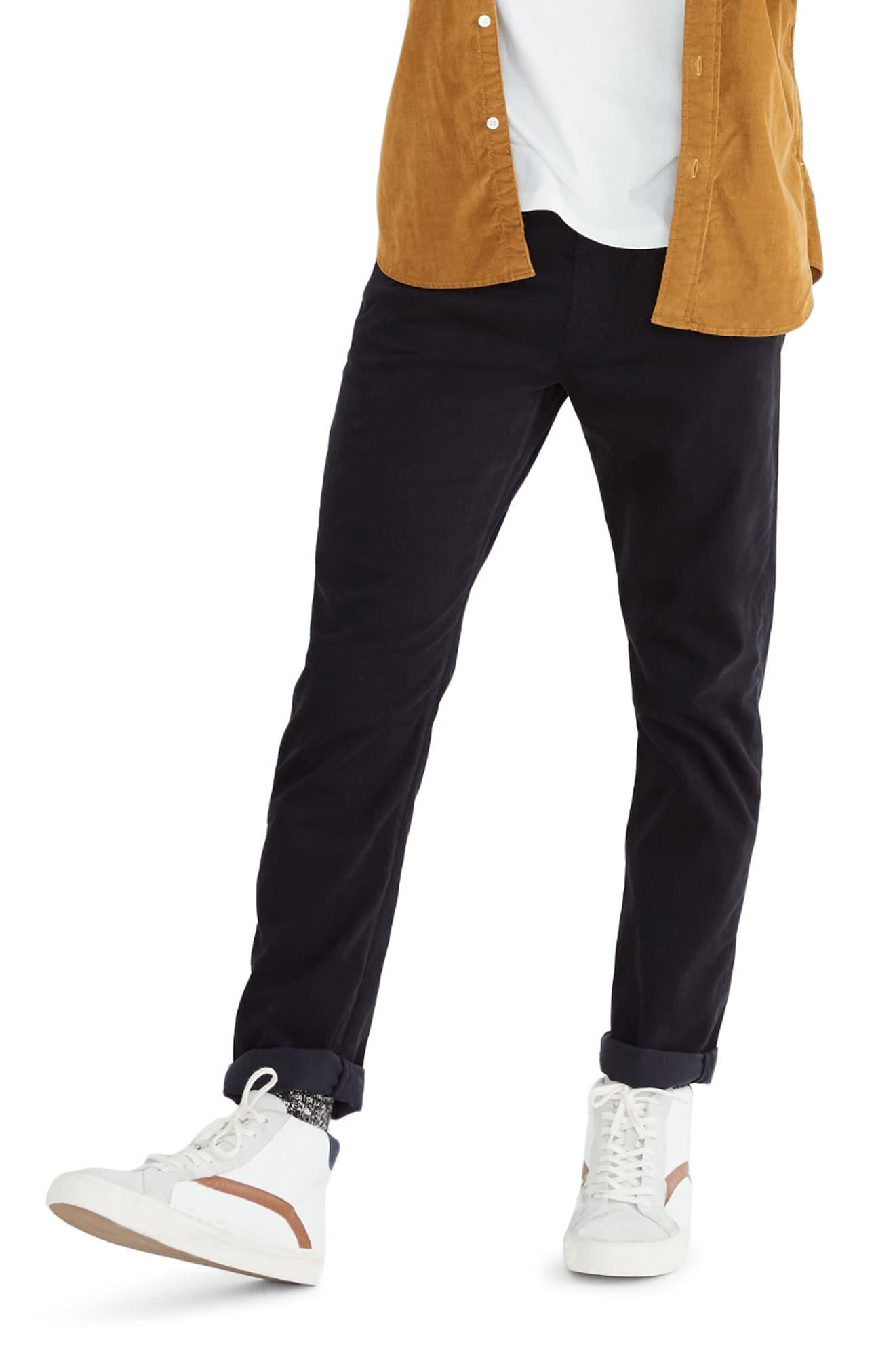 Men's Madewell Sateen Slim Jeans, Size 29 x 32 - Black