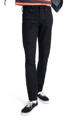 Men's Madewell Slim Authentic Flex Jeans, Size 28 x 32 - Black