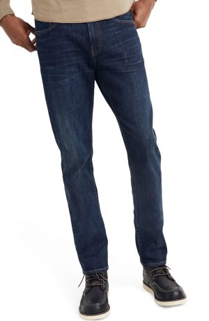 Men's Madewell Straight Everyday Flex Jeans: Thermolite Edition, Size 29 x 32 - Blue