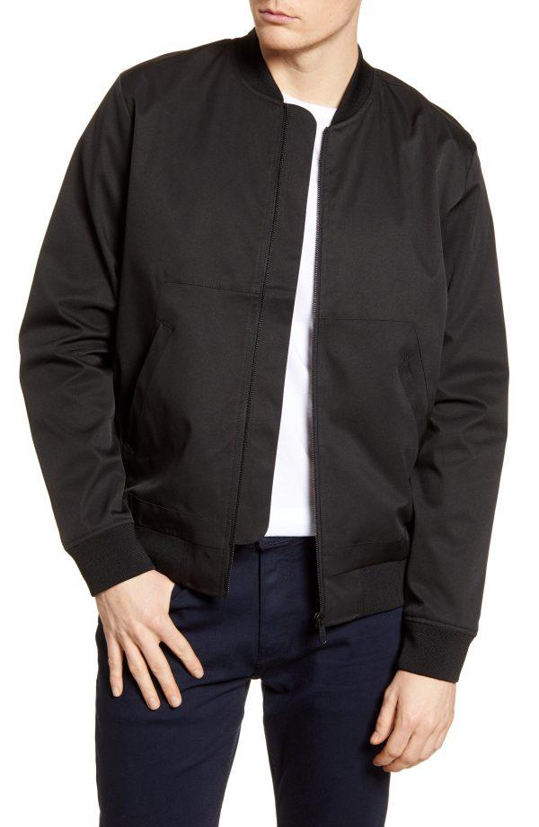 Men's Topman Icon Classic Bomber Jacket, Size Large - Black