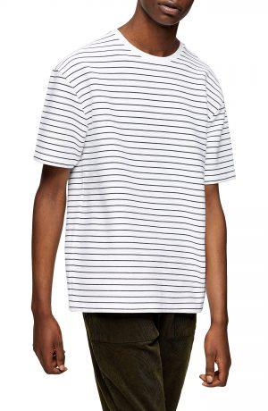 Men's Topman Oversize Stripe T-Shirt