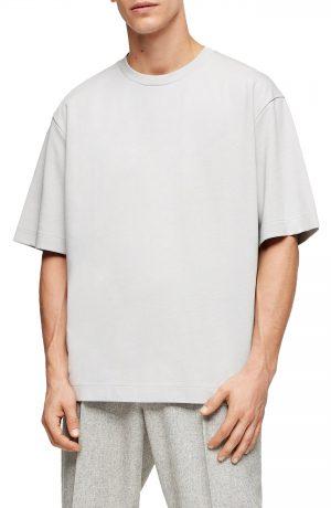 Men's Topman Premium Oversize T-Shirt, Size Large - Grey