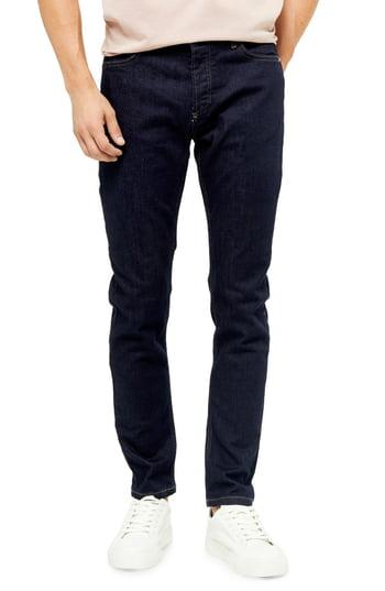 Men's Topman Skinny Fit Jeans, Size 38 x 34 - Blue