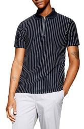 Men's Topman Stripe Zip Polo