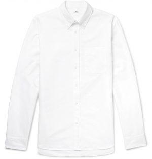 Mr P. - Button-Down Collar Cotton Oxford Shirt - Men - White