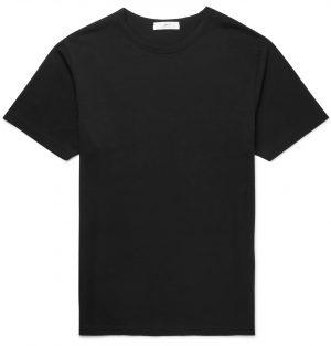 Mr P. - Cotton-Jersey T-Shirt - Men - Black
