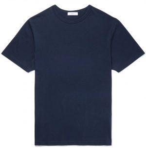 Mr P. - Cotton-Jersey T-Shirt - Men - Blue