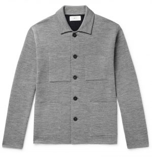 Mr P. - Double-Faced Knitted Chore Jacket - Men - Gray