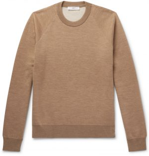 Mr P. - Double-Faced Knitted Sweater - Men - Brown