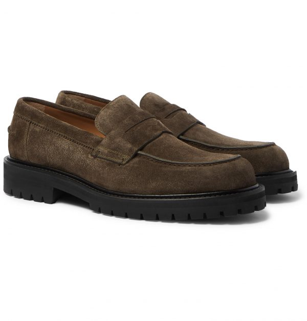 Mr P. - Jacques Suede Loafers - Men - Green
