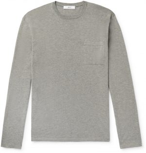 Mr P. - Knitted Cotton T-Shirt - Men - Gray