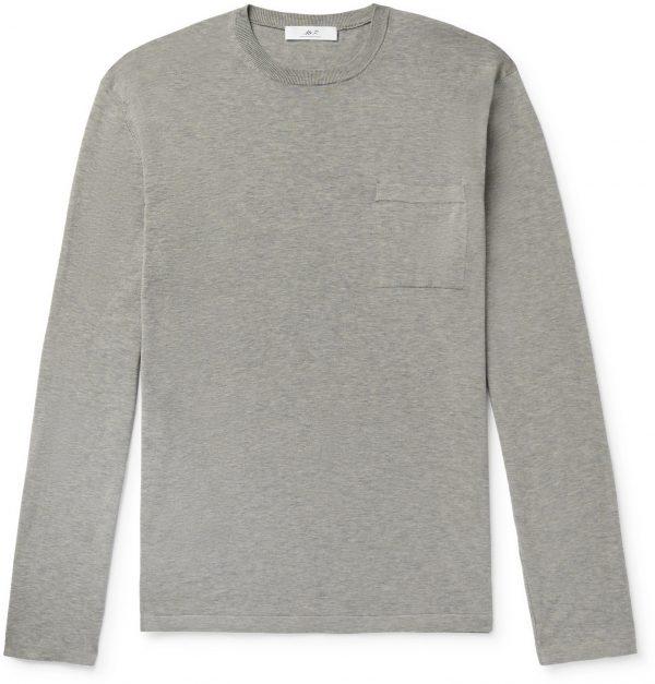 Mr P. - Knitted Cotton T-Shirt - Men - Gray