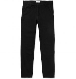 Mr P. - Tapered Selvedge Denim Jeans - Men - Black