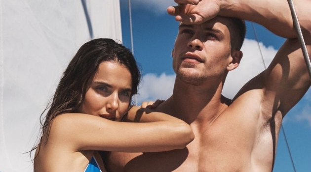 Blanca Padilla and Mitchell Slaggert front Nautica's spring-summer 2020 campaign.