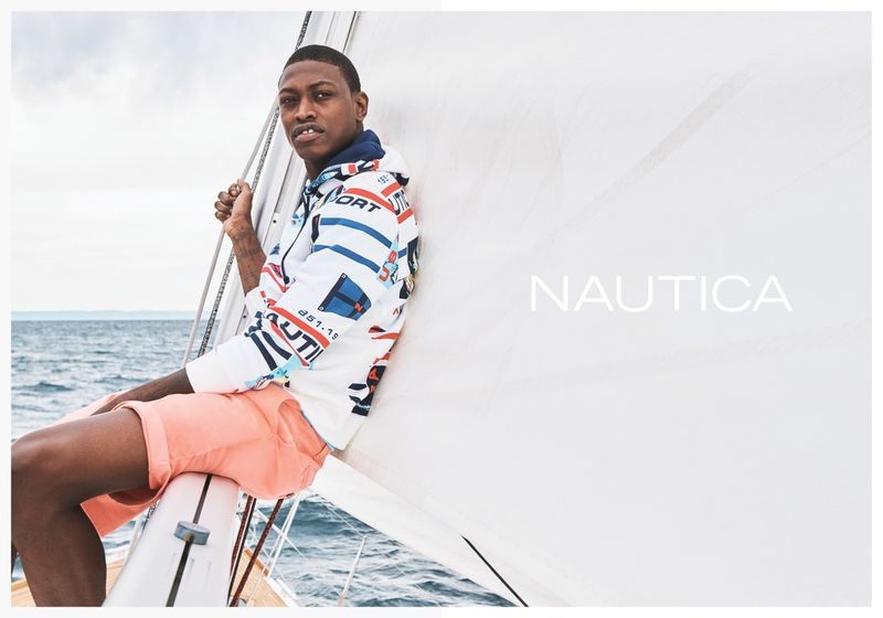 Connecting with Nautica, Dominique Hollington fronts the brand's spring-summer 2020 campaign.