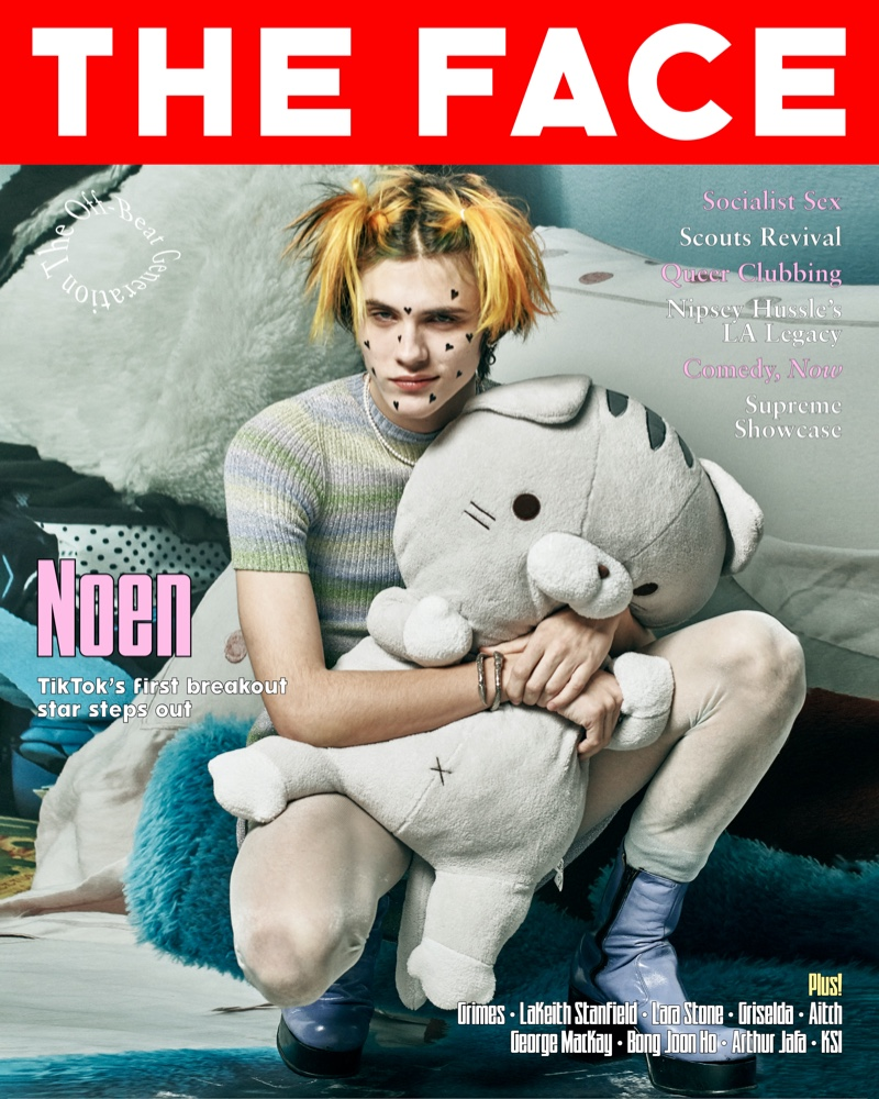 TikTok star Noen Eubanks covers the most recent issue of The Face magazine.