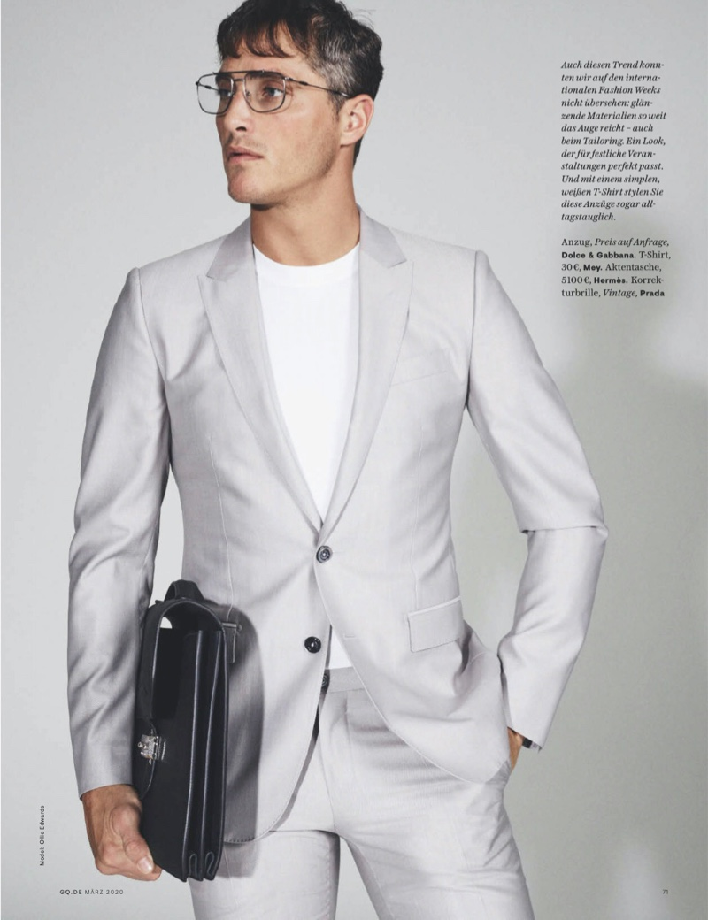 Ollie Edwards Suits Up for GQ Germany