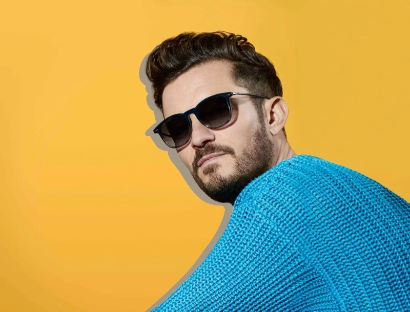 Actor Orlando Bloom appears in BOSS' spring-summer 2020 eyewear campaign.