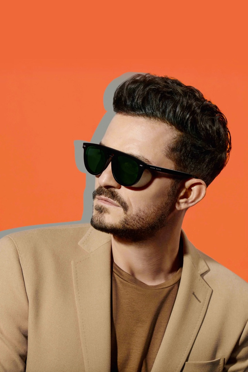 BOSS enlists Orlando Bloom as the star of its spring-summer 2020 eyewear campaign.