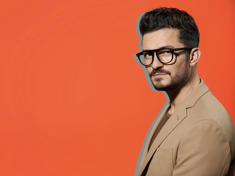 Donning smart glasses, Orlando Bloom fronts BOSS' spring-summer 2020 eyewear campaign.