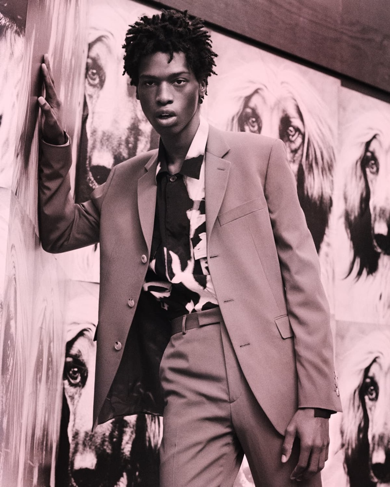 Tamel Lee  appears in Paul Smith's spring-summer 2020 campaign.