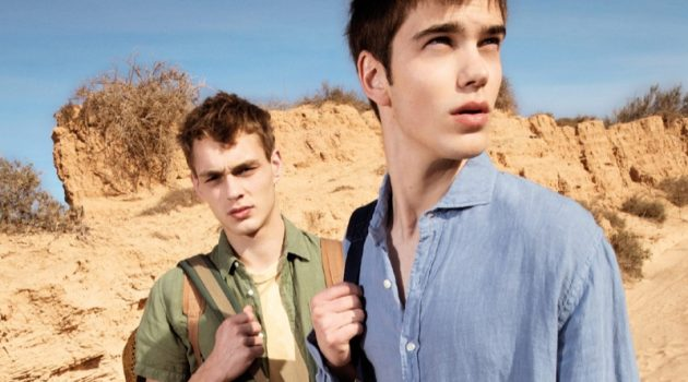 Dani van de Water and Sam Steele sport spring style from Pepe Jeans.